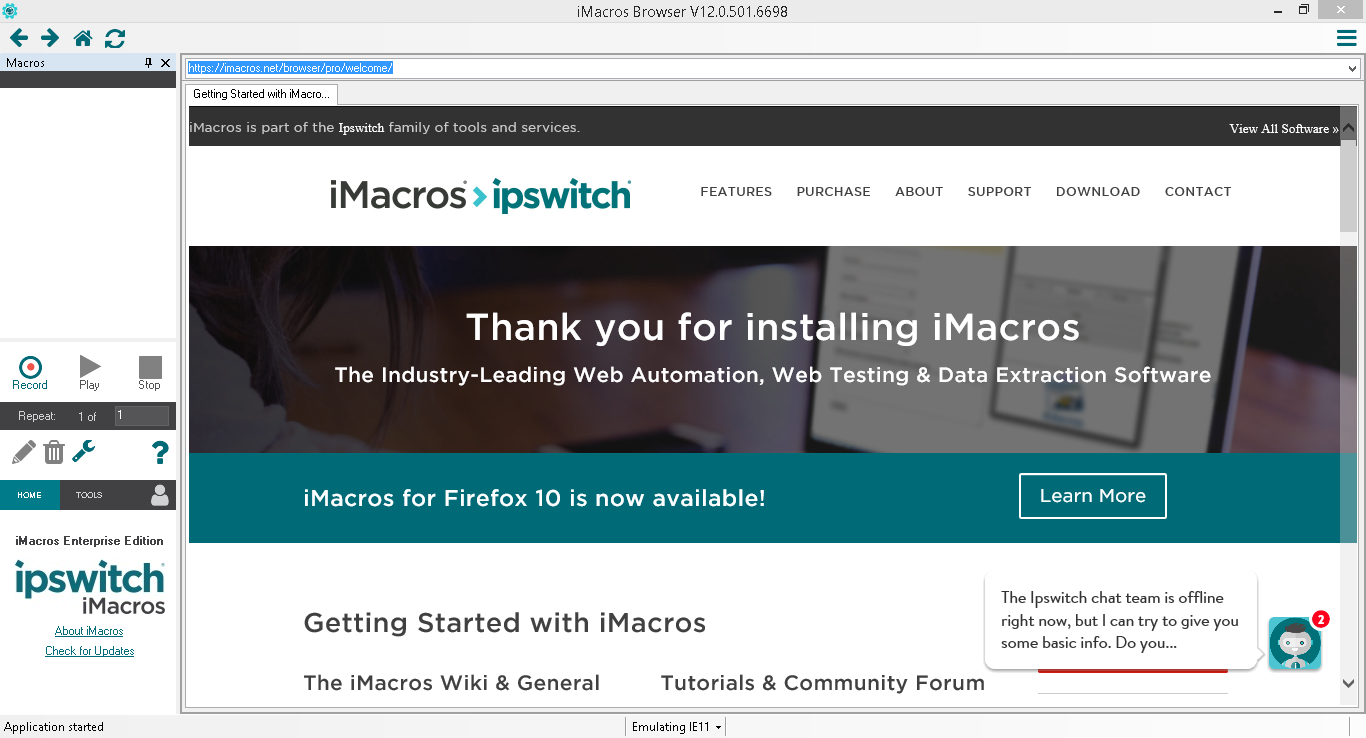 Download iMacros Enterprise Edition v12 0 501 6698 - 2R Computer