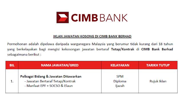 cimb bank career