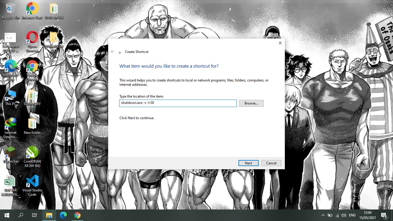 Cara Membuat Shortcut Shutdown di Komputer/Laptop