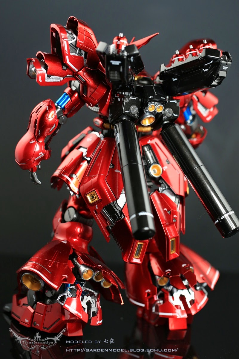 Mg 1 100 Sazabi Ver Ka Metallic Painted Build Gundam
