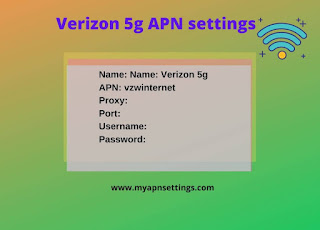 Verizon 5G APN Settings