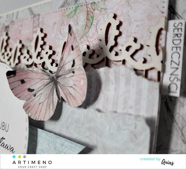 Motylek na kartce jubileuszowej