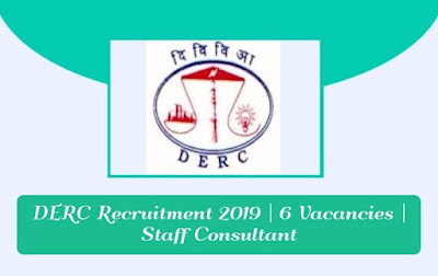 DERC Recruitment 2019 | 6 Vacancies | Staff Consultant, gettitnow