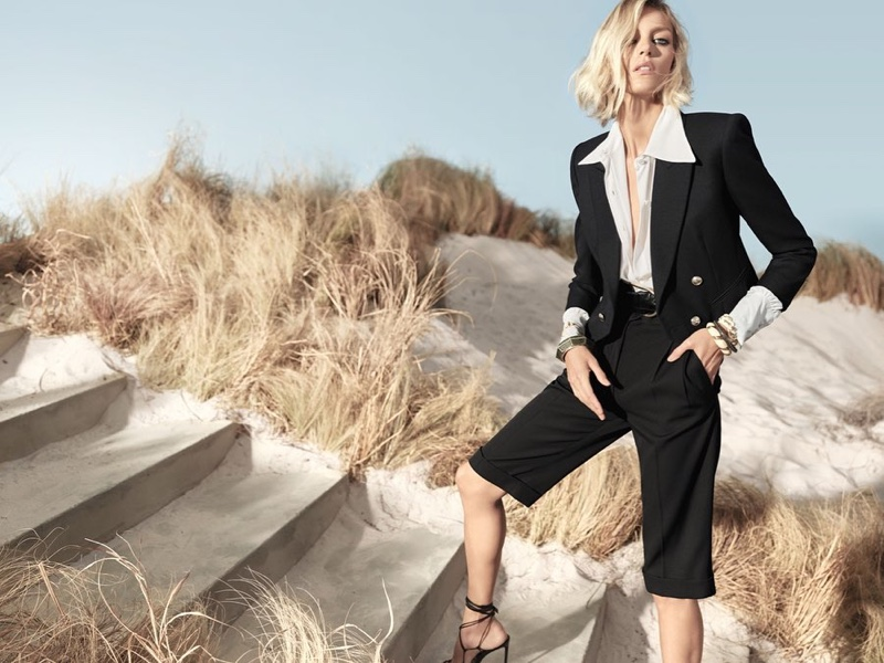 Model Anja Rubik suits up for Beymen spring-summer 2020 campaign