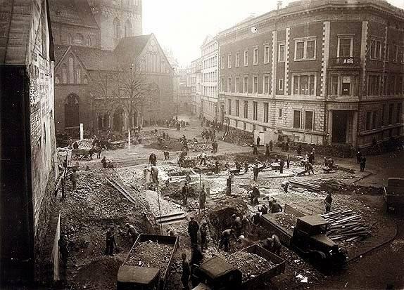 1935 год. Рига. Снос домов на Домской площади