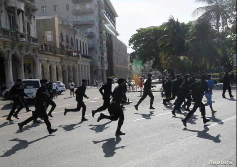 Miembros de la Brigada Especial del Ministerio del Interior, conocidos como