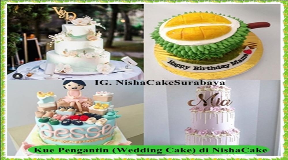 Jual Kue Pengantin (Wedding Cake) di NishaCake, Model Terbaru 2020