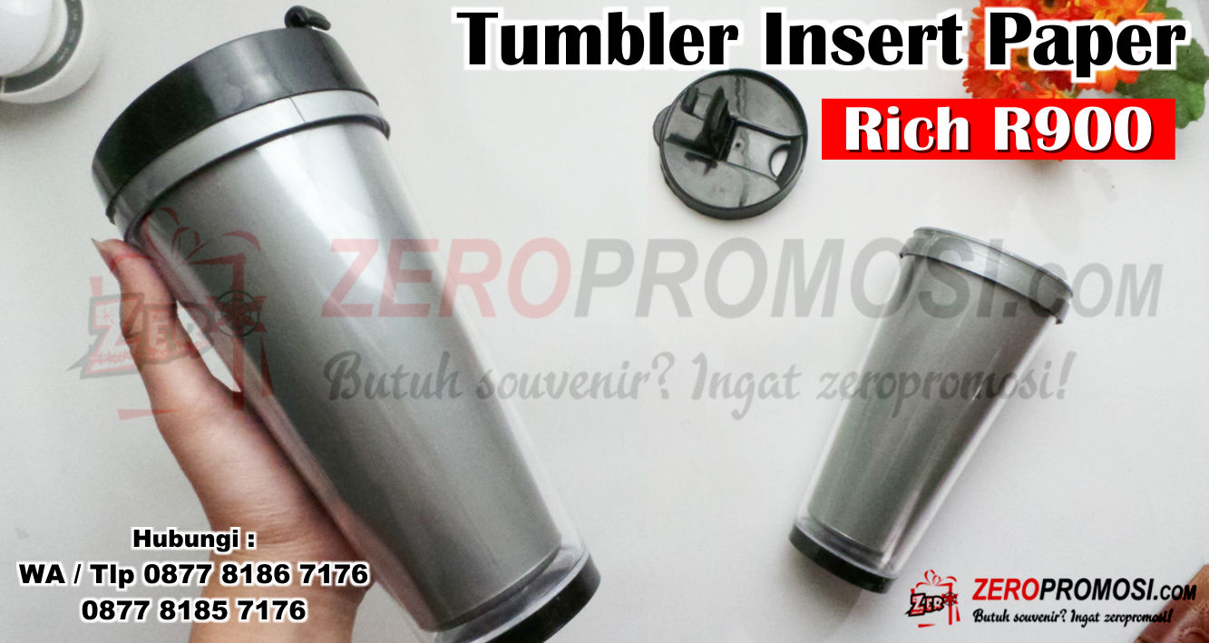 Tumbler Insert Paper Rich R900, Jual Tumbler Insert Paper Rich, Souvenir Tumbler Murah