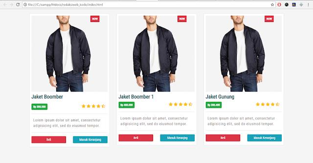 Membuat Gird Shop dengan Bootstrap