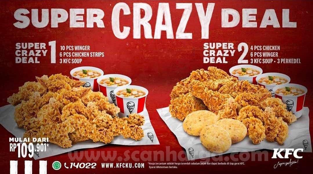 2 Promo KFC Super Crazy Deal + Combo Super Star Paket Terbaru KFC