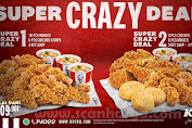 2 Promo KFC Super Crazy Deal + Combo Super Star Paket Terbaru KFC