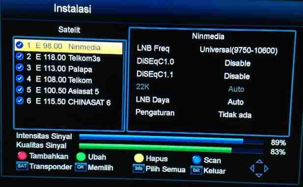 Scan Ulang Receiver Ninmedia Rekomendasi