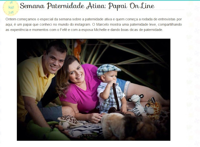 Semana da Paternidade Ativa: Papai OnLine