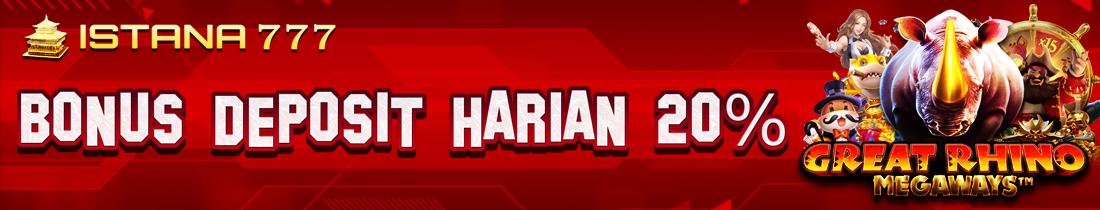 Bonus Deposit Harian 20%