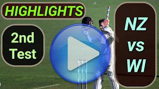 NZ vs WI 2nd Test 2020