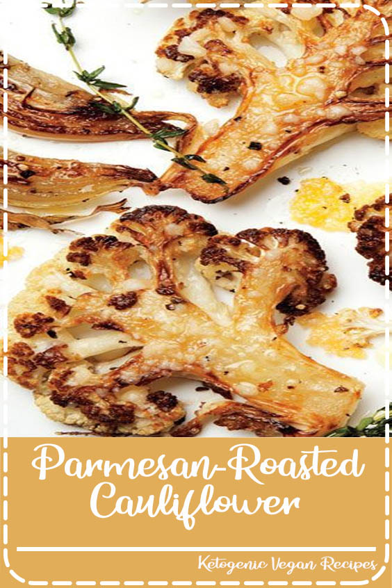 caramelized cauliflower florets and some just Parmesan-Roasted Cauliflower