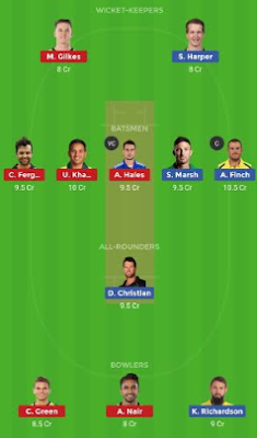 THU vs REN dream 11 team | REN vs THU