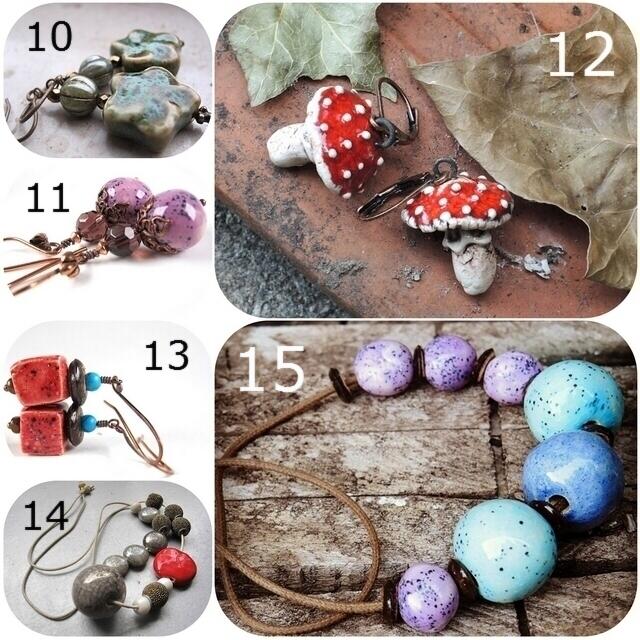 DIY - verzameld/collected: juwelen met keramieken onderdelen/jewelery with ceramic parts