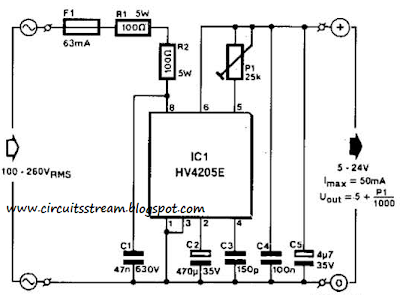 Build a Simple Single-Chip Dc Supply Circuit Diagram