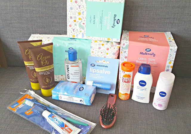 Pre-filled hospital bag from little bambinos content