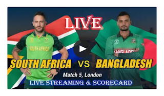 Cricket World Cup : Bangladesh vs South Africa Live Streaming - Live Cricket and Watch Online Streaming #CricHD