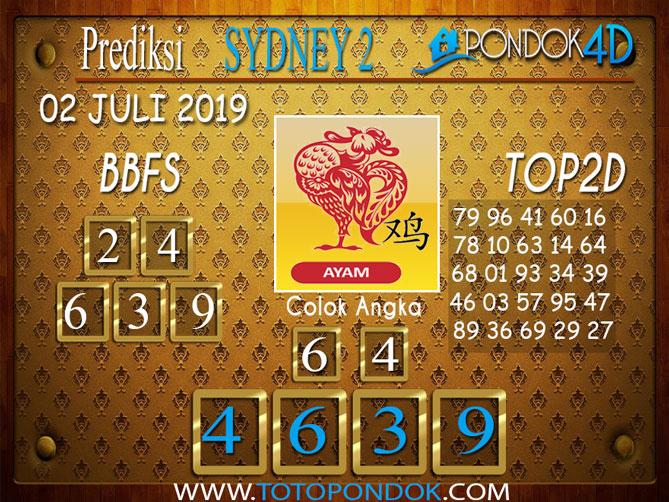 Prediksi Togel SYDNEY 2 PONDOK4D 03 JULI  2019