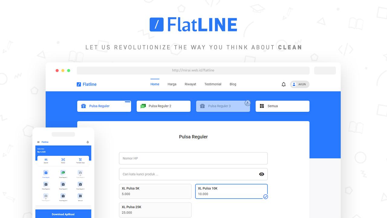 Flatline - Web Pulsa Online Theme