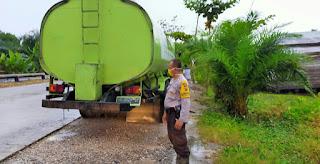 Polsek Tanah Putih Temukan Mobil Truck Tangki Tanpa Sopir