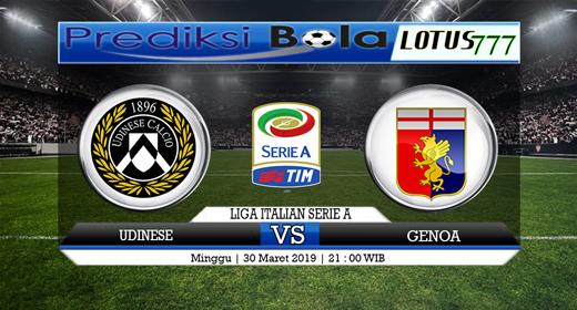 Prediksi Udinese Vs Genoa Tanggal 30 Maret 2019