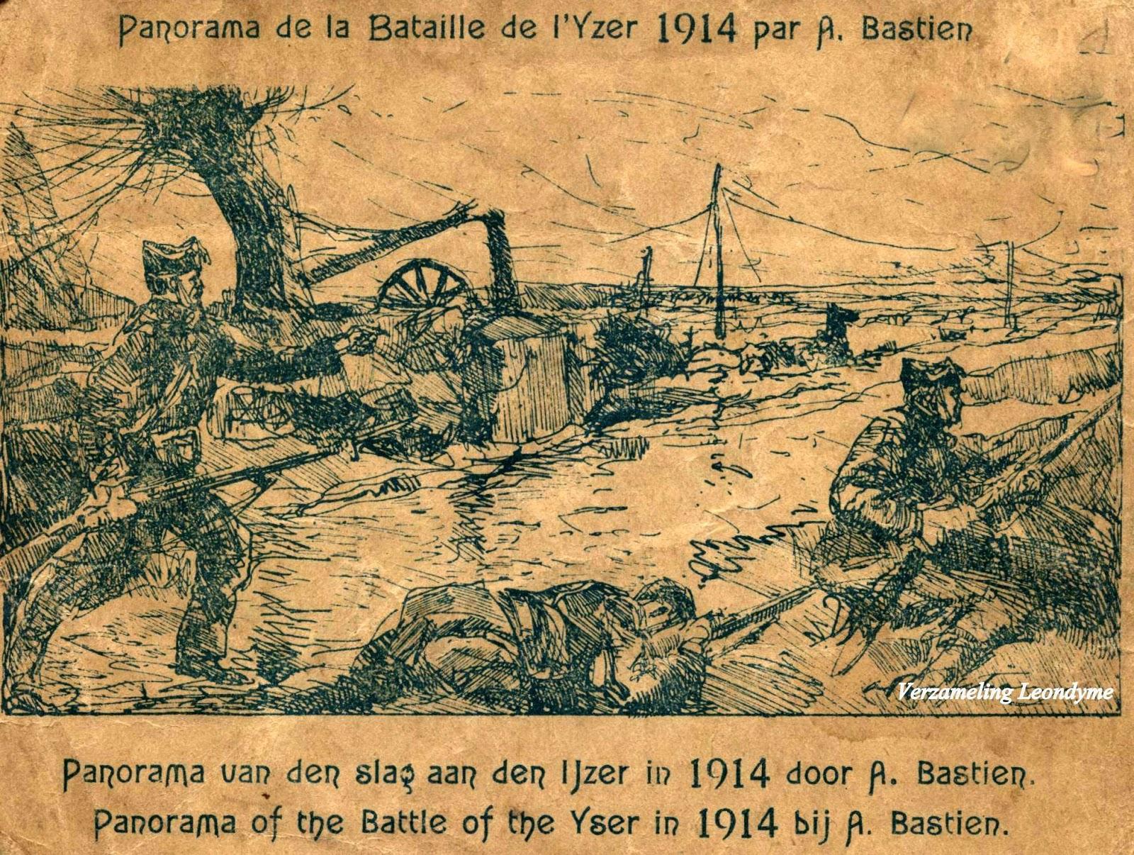 Slag aan de IJzer van 1914. Naar een verslag van Alfred Bastien. Verzameling Leondyme