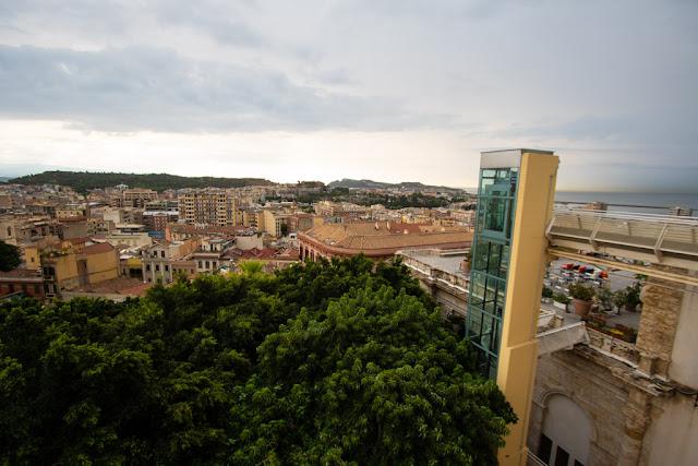 Vista da Via del Fossario-Cagliari