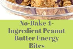 No-Bake 4-Ingredient Peanut Butter Energy Bites