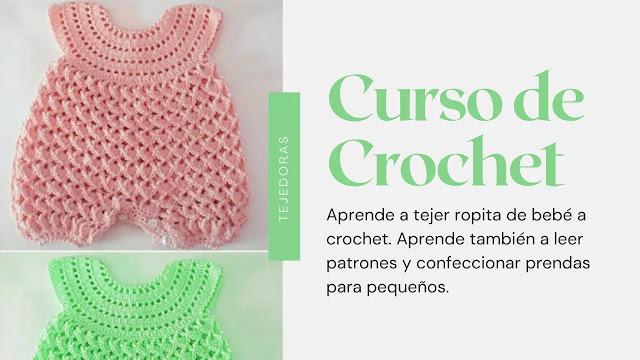 Taller virtual: Aprende a tejer una ropita de bebé a crochet