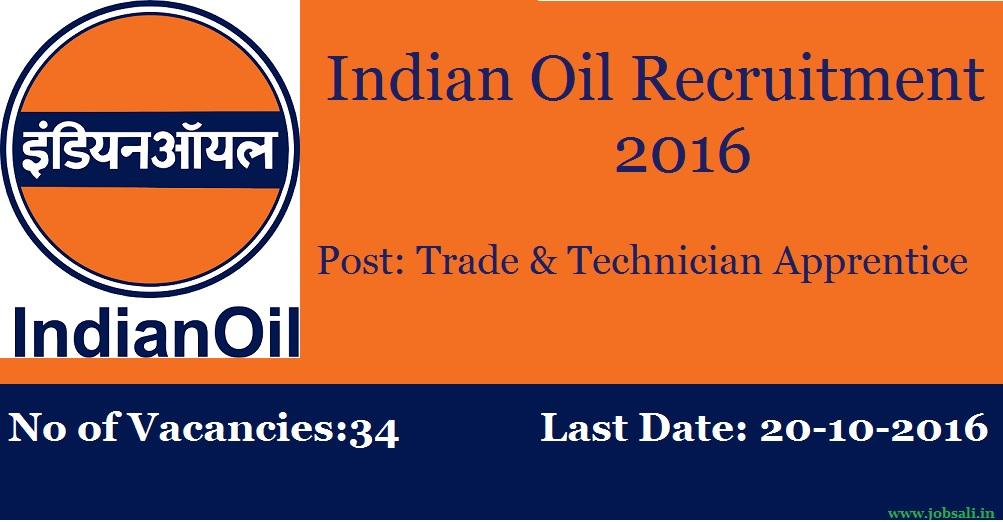 IOCL Recruitment process, Apprentices jobs