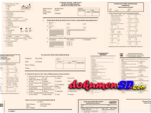 Download Soal UTS SD Semester 2 Mata Pelajaran Penjas Kelas 1