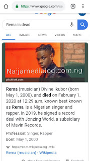 Rema was spotted to have been found in his Apartment in Lagos today