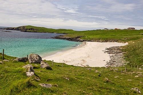 Meal Beach Burra Shetland Scotland.