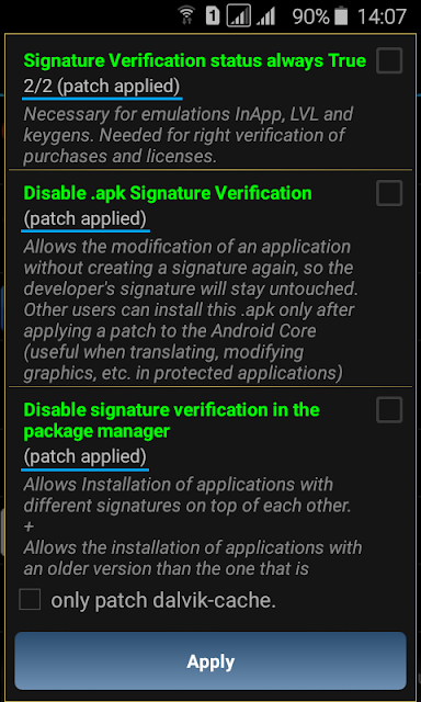 patched disable signature
