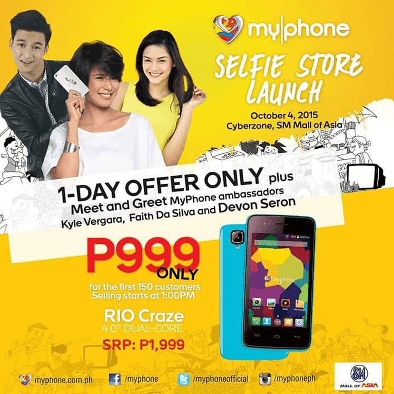 MyPhone Rio Craze Down To Just 999 Pesos During 1 Day Sale Tom!
