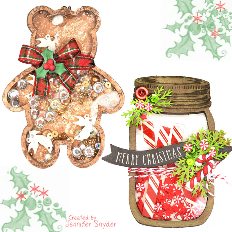 Christmas In August Clipart.Ornament Shakers For Christmas Creative Embellishments