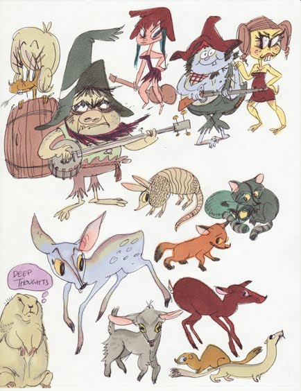 Funny Cute 2007 Hillbilly And Animal Drawings