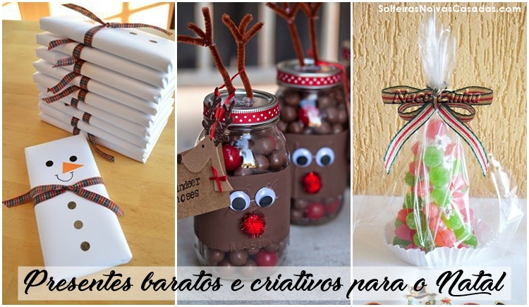 Presentes baratos e criativos para o Natal