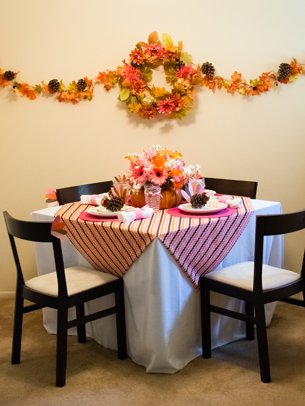Thanksgiving Sugar & Spice Kids Party Tablescape - via BirdsParty.com