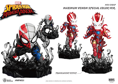 San Diego Comic-Con 2020 Exclusive Maximum Venom Spider-Man & Iron Man Mini Egg Attack Box Set by Beast Kingdom x Marvel Comics
