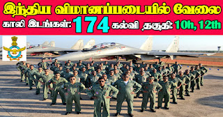 Indian Air Force Recruitment 2021 174 Group C Posts