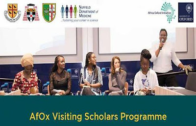 AfOx Visiting Fellows Program for African Scholars (Fully-funded) 2018