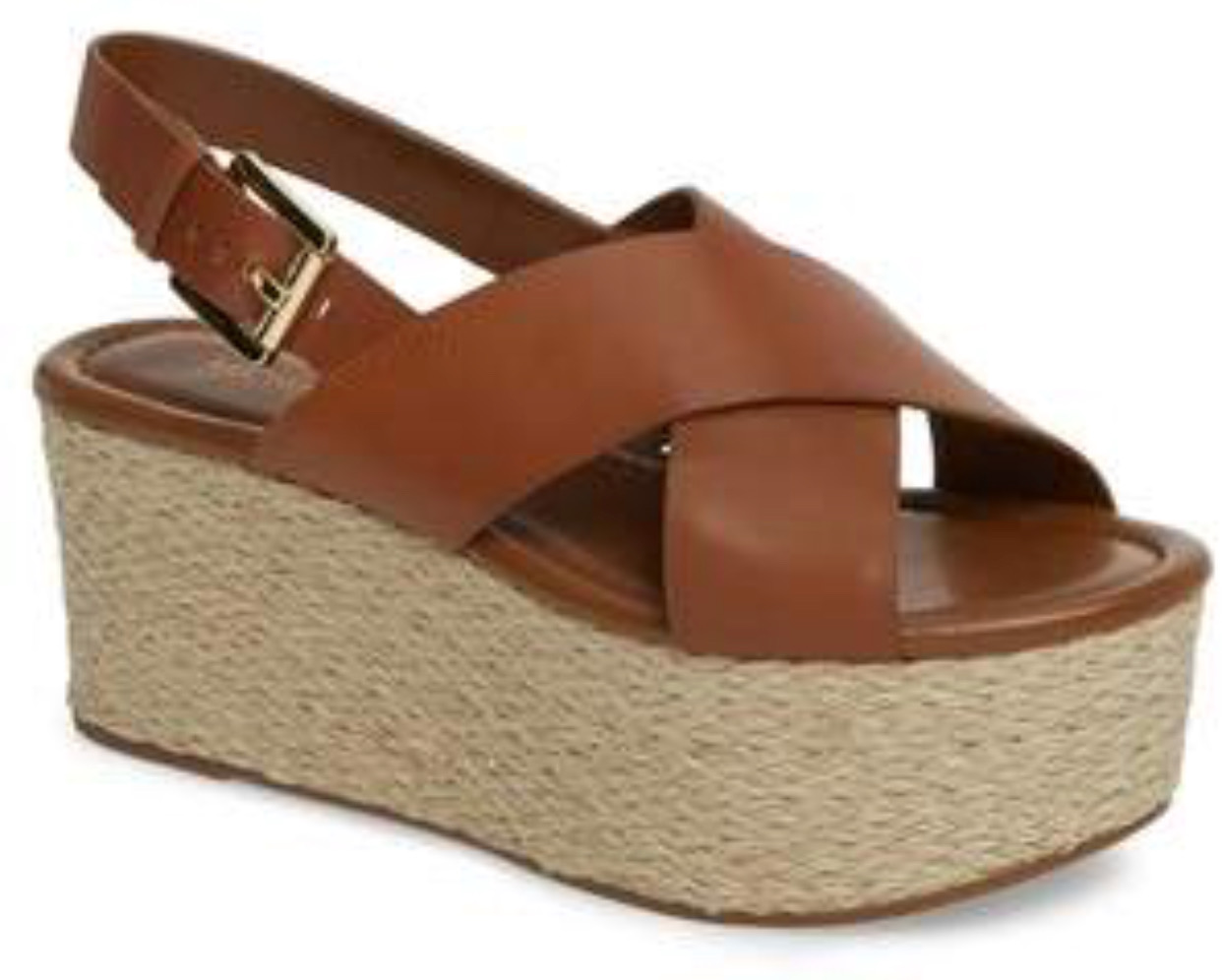 b13bcdf0ceee0 These Michael Kors wedges are almost like the ones I posted above but they  are a little less expensive and they have the cross strap design.