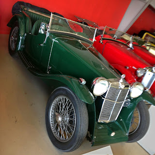 1933 MG L1 Magna on display in museum.