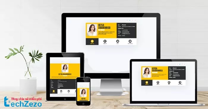 Profile vCard Responsive Blogger template