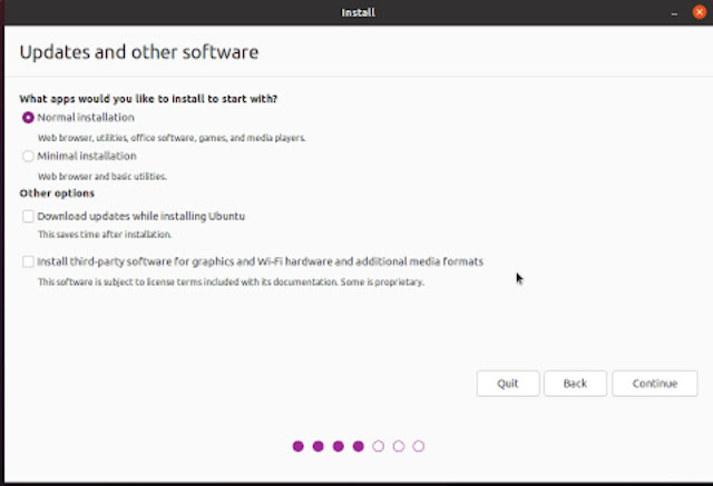 Update and other software settings